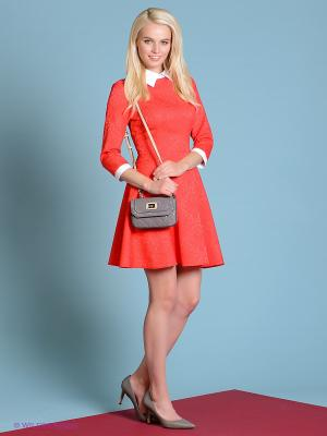 Платье Colambetta. Цвет: красный, белый
