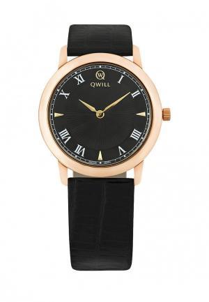 Часы Qwill. Цвет: черный