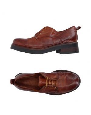Обувь на шнурках INK. Цвет: какао