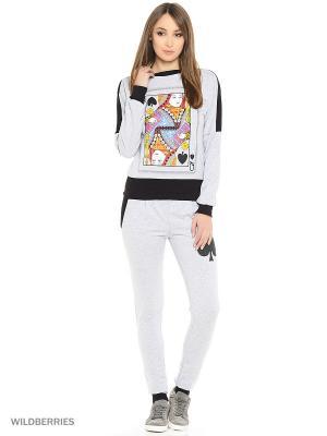 Костюм женский(джемпер, брюки) MARSOFINA. Цвет: серый, черный