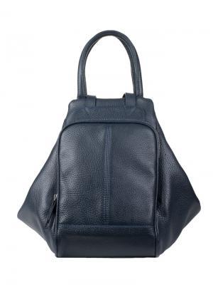 Сумка-рюкзак Fabio Bruno. Цвет: темно-синий