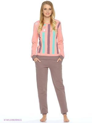 Пижама NICOLETTA. Цвет: коралловый, зеленый, коричневый