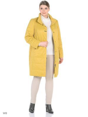 Утепленное пальто MONTSERRAT. Цвет: желтый