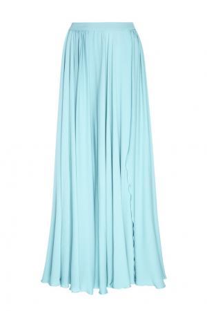 Шелковая юбка Elie Saab. Цвет: зеленый