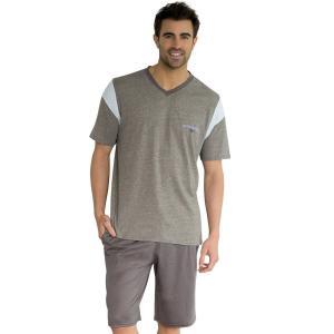 Пижама с шортами, короткие рукава ATHENA. Цвет: серый