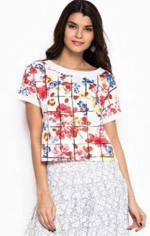 Разноцветный свитшот с цветочным принтом Liu Jo. Цвет: цветочный принт