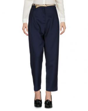 Повседневные брюки YUMI'. Цвет: темно-синий