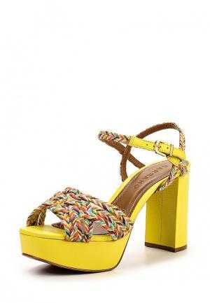 Босоножки Carrano. Цвет: желтый