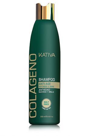 Коллагеновый шампунь Kativa. Цвет: none