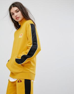 Ellesse Свитшот от спортивного костюма с высоким воротом и молнией. Цвет: желтый