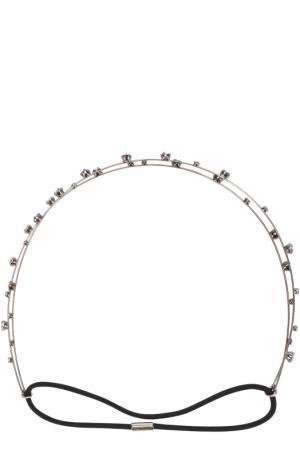 Повязка для волос с кристаллами Jennifer Behr. Цвет: серебряный