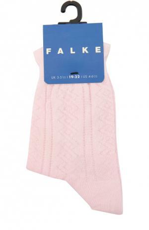 Носки с рельефным узором Falke. Цвет: розовый