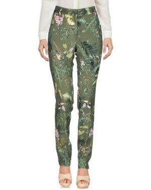 Повседневные брюки MESSAGERIE. Цвет: зеленый