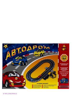 Автодром Тилибом. Цвет: красный, желтый, синий