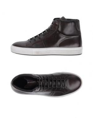 Высокие кеды и кроссовки CORVARI. Цвет: темно-коричневый