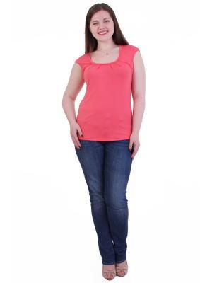 Блузка Regina Style. Цвет: коралловый