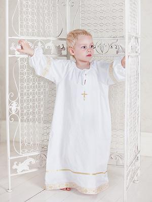 Рубашка Ангел мой. Цвет: золотистый, белый