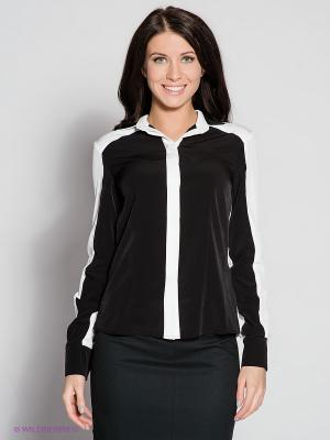 Блузка MONDIGO. Цвет: черный, белый