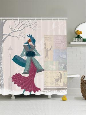 Штора для ванной Magic Lady. Цвет: голубой, белый, фиолетовый