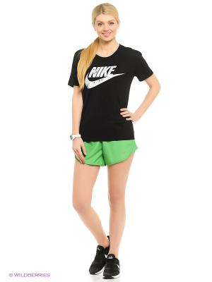 Футболка NIKE TEE-CHERRY BLOS HOOK. Цвет: черный