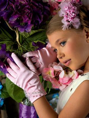 Перчатки Perlitta. Цвет: розовый