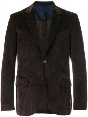Классический приталенный пиджак Mp  Massimo Piombo. Цвет: коричневый