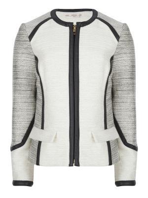 Пиджак, Joss, цвет черный/белый (Black/White) SUPERTRASH. Цвет: серый, белый