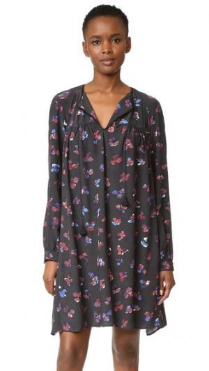 Платье с вышивкой HATCH. Цвет: цветочный принт с черным