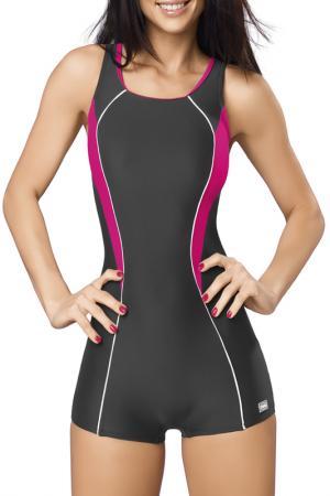 Swimwear GWINNER. Цвет: dark gray and fuchsia