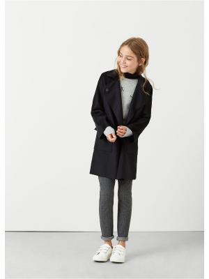 Пальто - GRETA Mango kids. Цвет: черный