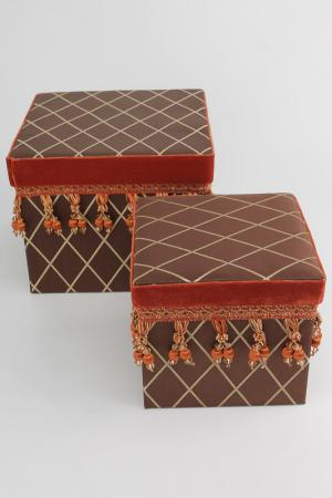 Коробочки квадратные 2 шт. Jennifer Taylor. Цвет: мультицвет