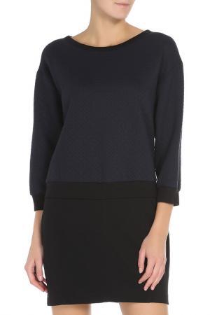 Платье Pinko. Цвет: темно-синий, черный