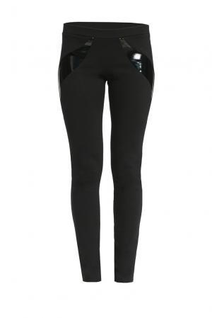 Трикотажные брюки из вискозы 150088 Cristina Effe. Цвет: черный
