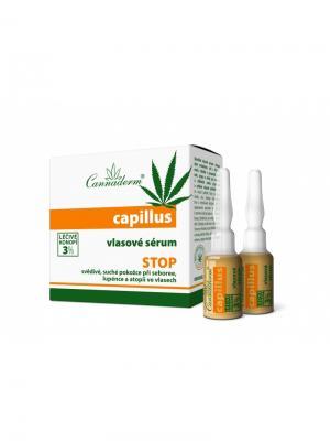Cыворотка Capillus Cannaderm средство лечения от выпадения волос и зуда кожи головы 8x5 мл.. Цвет: белый, зеленый