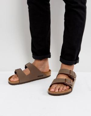 Birkenstock Коричневые сандалии Arizona. Цвет: коричневый