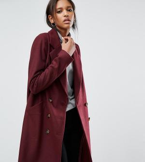ASOS Tall Пальто-бушлат. Цвет: красный
