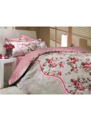 Кпб 1,5 сп. (Евро) поплин SUSANA розовое HOBBY HOME COLLECTION. Цвет: розовый