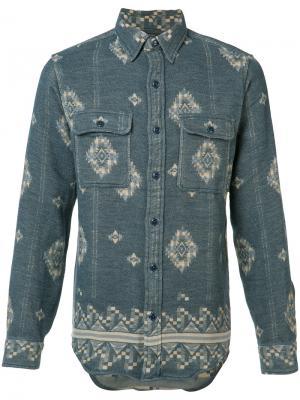 Рубашка с принтом Rrl. Цвет: синий