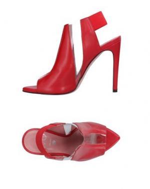 Сандалии WO MILANO. Цвет: красный