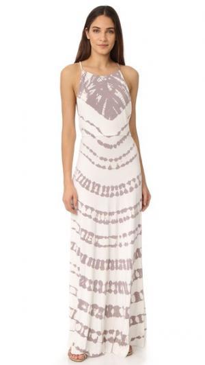 Макси-платье Megan Young Fabulous & Broke. Цвет: полоска с грибами