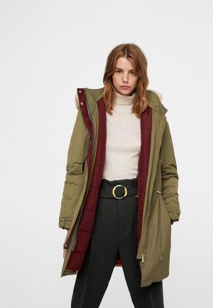 Куртка Mango. Цвет: хаки