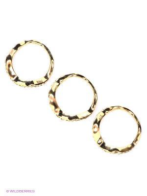 Кольцо, 3 шт Happy Garnets. Цвет: золотистый