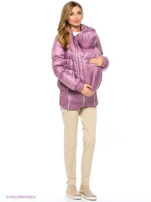 Слинго-куртка осень-зима на термофине EUROMAMA. Цвет: сливовый