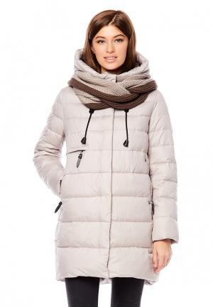 Куртка утепленная Alyaska. Цвет: бежевый