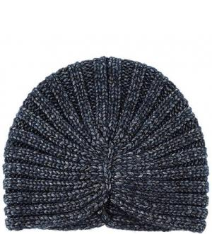 Вязаная шапка-чалма Noryalli. Цвет: синий