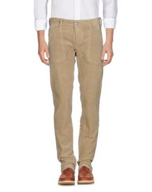 Повседневные брюки BARBA Napoli. Цвет: бронзовый