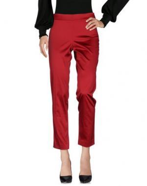 Повседневные брюки SONIA FORTUNA. Цвет: красный