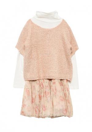Платье Chicco. Цвет: розовый