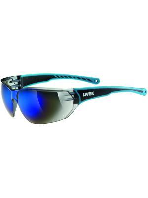 Солнцезащитные очки Uvex. Цвет: синий