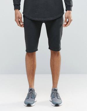 SikSilk Свободные шорты. Цвет: черный